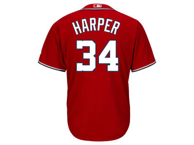 Washington Nationals Bryce Harper Majestic MLB Men's Player Replica Cool Base Jersey