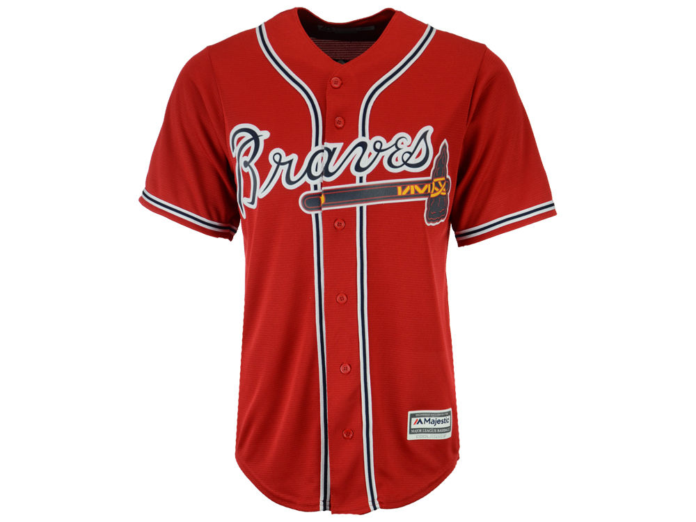 Atlanta Braves Majestic MLB Men s Blank Replica Cool Base Jersey ... a16c74a609