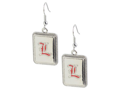 Louisville Cardinals Rectangle Shaped Earrings