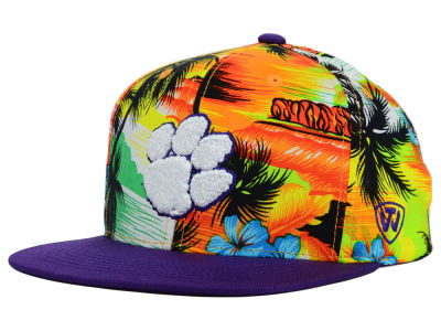 Clemson Tigers Top of the World NCAA Waverunner Snapback Hat