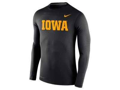 Iowa Hawkeyes Nike NCAA Men's Stadium Dri Fit Touch Long Sleeve T-Shirt