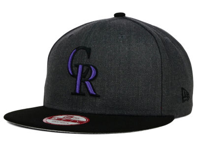 Colorado Rockies New Era MLB Graphite Speed Up 9FIFTY Snapback Cap
