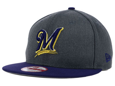 Milwaukee Brewers New Era MLB Graphite Speed Up 9FIFTY Snapback Cap