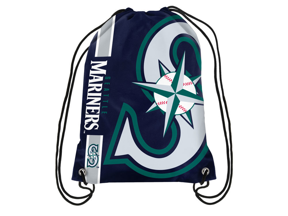 Seattle Mariners Big Logo Drawstring Backpack Lids