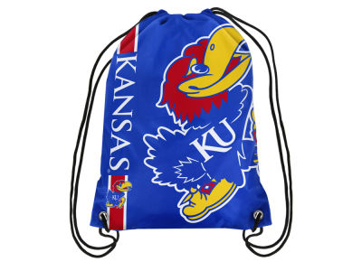 Kansas Jayhawks Big Logo Drawstring Backpack