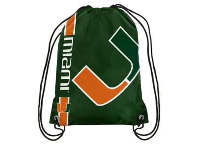 Miami Hurricanes Big Logo Drawstring Backpack