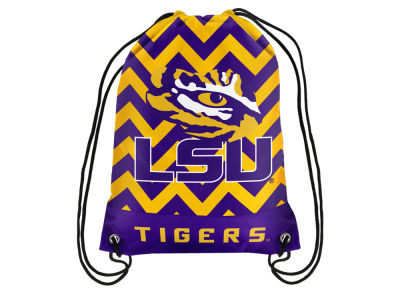 LSU Tigers Women's Chevron Drawstring Backpack