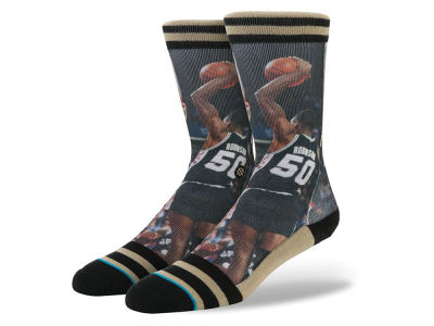 San Antonio Spurs David Robinson Stance Legend Player Sock
