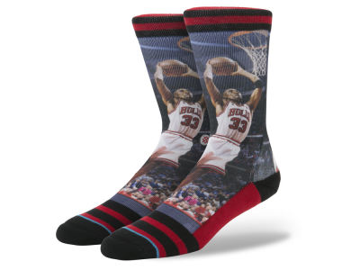 Chicago Bulls Scottie Pippen Stance Legend Player Sock