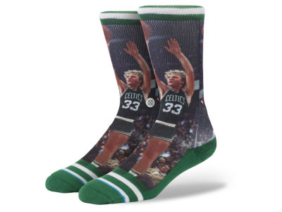 Boston Celtics Larry Bird Stance Legend Player Sock