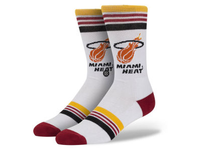 Miami Heat Stance Mid Team Color Stripe Socks