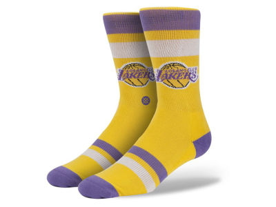 Los Angeles Lakers Stance Mid Team Color Stripe Socks