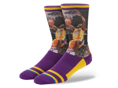Los Angeles Lakers Shaquille O'Neal Stance Legend Player Sock