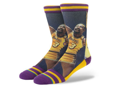 Los Angeles Lakers Wilt Chamberlain Stance Legend Player Sock
