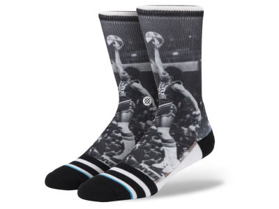 Brooklyn Nets Julius Erving Stance Legend Player Sock