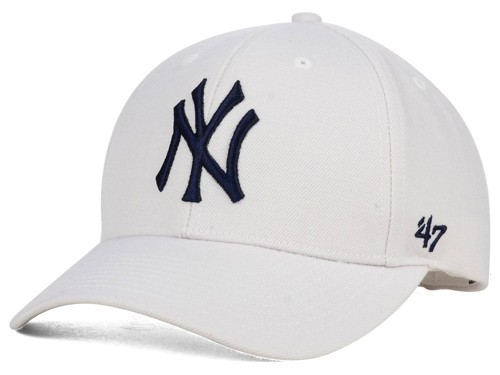 New York Yankees  47 MLB White MVP Cap  bbc103d5840