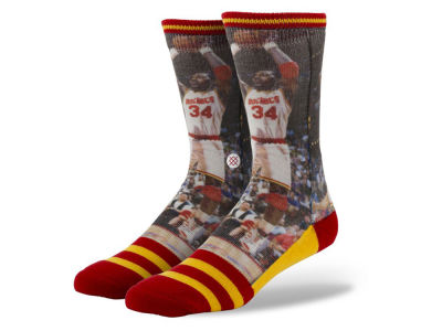 Houston Rockets Hakeem Olajuwon Stance Legend Player Sock