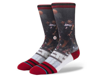 Philadelphia 76ers Allen Iverson Stance Legend Player Sock