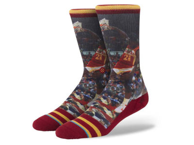 Atlanta Hawks Dominique Wilkins Stance Legend Player Sock