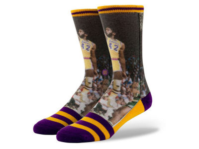 Los Angeles Lakers James Worthy Stance Legend Player Sock