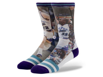 Utah Jazz Stockton/ Malone Stance Legend Player Sock