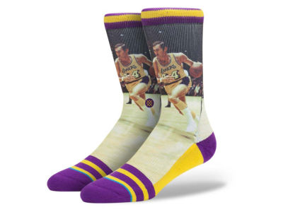 Los Angeles Lakers Jerry West Stance Legend Player Sock