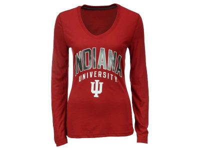 Indiana Hoosiers adidas NCAA Women's Sunlight Camo Long Sleeve T-Shirt