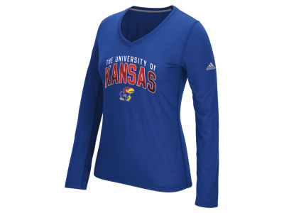 Kansas Jayhawks adidas NCAA Women's Sunlight Camo Long Sleeve T-Shirt