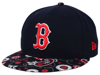 Boston Red Sox New Era MLB Paisley Time 59FIFTY Cap