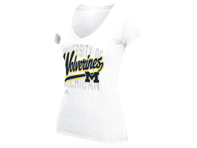 Michigan Wolverines adidas NCAA Women's Script Tail Shadow T-Shirt