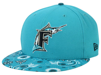Miami Marlins New Era MLB Paisley Time 59FIFTY Cap