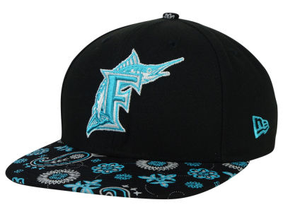 Florida Marlins New Era MLB Paisley Time 9FIFTY Snapback Cap