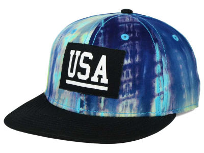 Official USA BLK Dye Snapback Cap