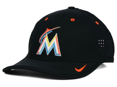 Miami Marlins Nike MLB Vapor Swoosh Adjustable Cap
