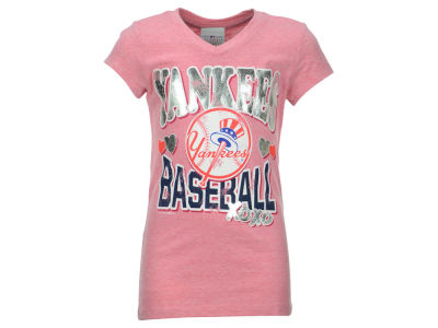 New York Yankees 5th & Ocean MLB Girls Pink T-Shirt