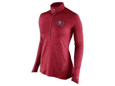San Francisco 49ers Nike NFL Women's Stadium Element 1/4 Zip Pullover Shirt