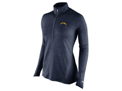 San Diego Chargers Nike NFL Women's Stadium Element 1/4 Zip Pullover Shirt