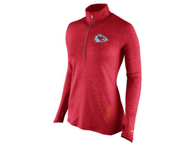 Kansas City Chiefs Nike NFL Women's Stadium Element 1/4 Zip Pullover Shirt