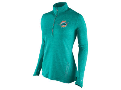 Miami Dolphins Nike NFL Women's Stadium Element 1/4 Zip Pullover Shirt