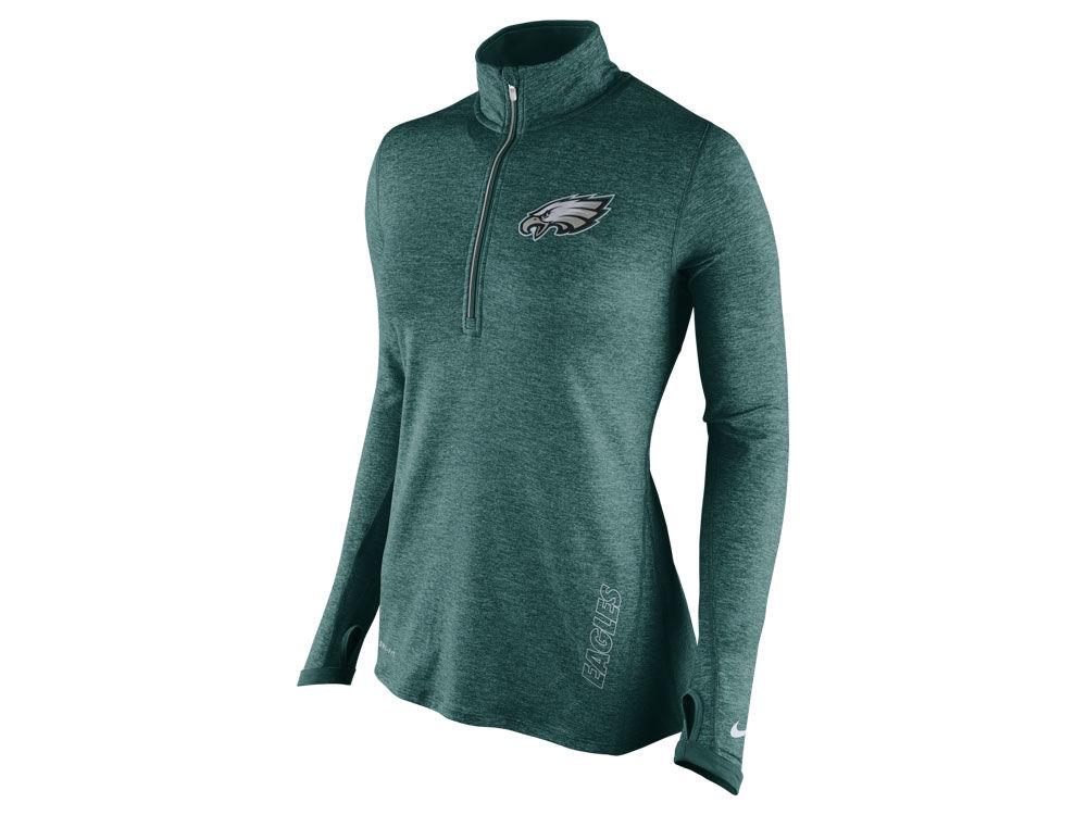 Philadelphia Eagles Nike NFL Women s Stadium Element 1 4 Zip Pullover Shirt   d3e81eb1d