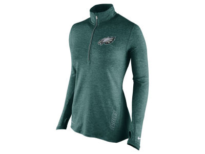 Philadelphia Eagles Nike NFL Women's Stadium Element 1/4 Zip Pullover Shirt
