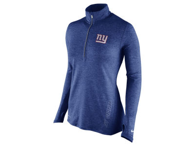 New York Giants Nike NFL Women's Stadium Element 1/4 Zip Pullover Shirt