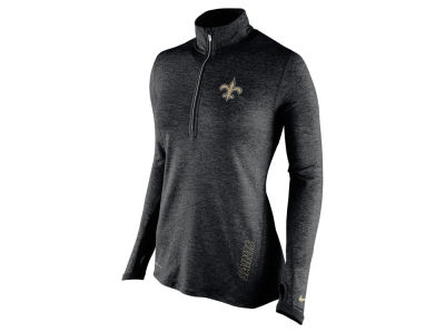 New Orleans Saints Nike NFL Women's Stadium Element 1/4 Zip Pullover Shirt