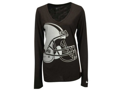 Cleveland Browns Nike NFL Women's Logo Wrap Long Sleeve T-Shirt