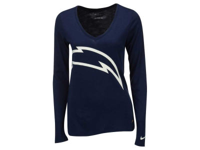 San Diego Chargers Nike NFL Women's Logo Wrap Long Sleeve T-Shirt