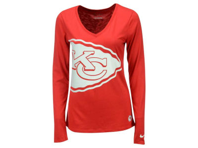 Kansas City Chiefs Nike NFL Women's Logo Wrap Long Sleeve T-Shirt