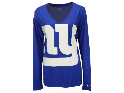 New York Giants Nike NFL Women's Logo Wrap Long Sleeve T-Shirt