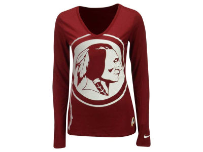 Washington Redskins Nike NFL Women's Logo Wrap Long Sleeve T-Shirt