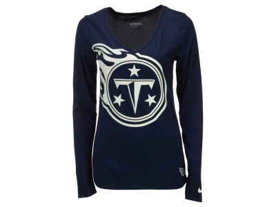 Tennessee Titans Nike NFL Women's Logo Wrap Long Sleeve T-Shirt