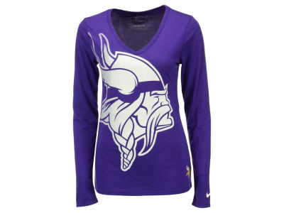 Minnesota Vikings Nike NFL Women's Logo Wrap Long Sleeve T-Shirt